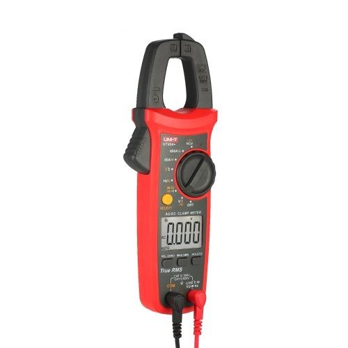UNI-T UT204+ 6000 Counts Digital Clamp Meter True RMS Multimeter Clamp Ammeter Voltage Meter NCV Test Universal Meter Tester AC/DC Current Clamp Tester -40~1000℃ Temperature Measurement LIVE Test