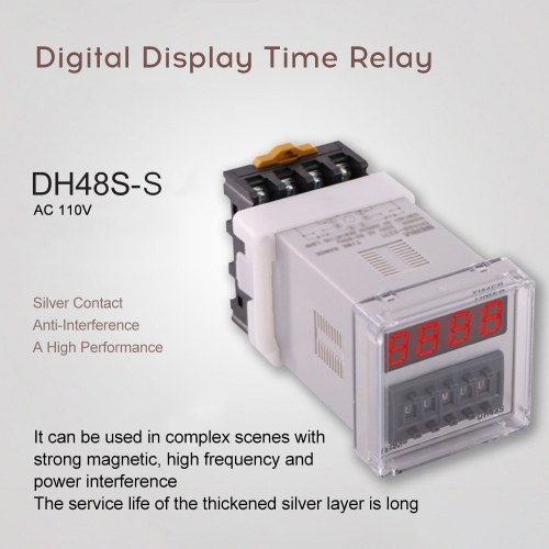 DH48S-S Digital Display Cycle Time Relay Precision Time Controller With Socket Base