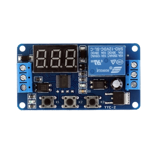 12V LED Display Automation Digital Delay Timer Control Switch Relay Module
