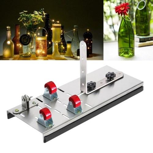 Нержавеющая сталь Резак для стеклянных бутылок Винные пивные бутылки Режущий инструмент с 3 колесами для резки поделок Проекты Ремесла