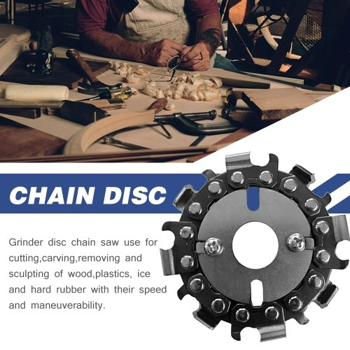 2.5 Inch 8 Tooth Grinding Chain Plate Woodworking Chain Plate Wood Carving Disc For Grinder Power Tool Accessories Grinder Saw Disc