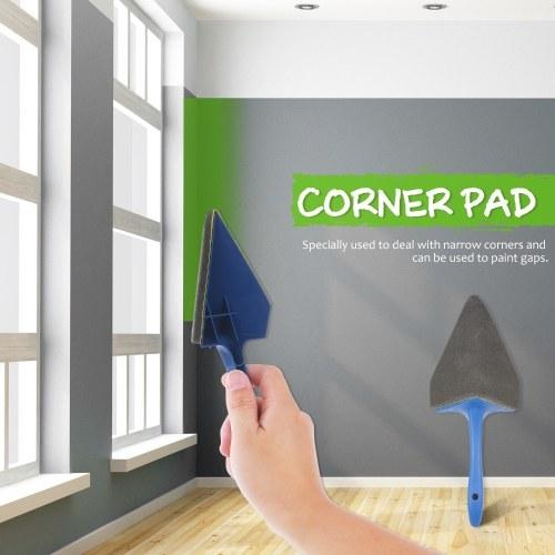 9Pcs Paint Brush Set Seamless New Drum-type Household Multifunctional Paint Roller Brush Corner Painting Brush Painting Tool Blue+Gray KQ-000139