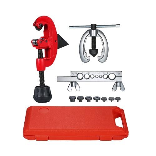 Il set di strumenti per stampi a doppia svasatura di riparazione del tubo del carburante del freno in rame per il taglio della svasatura