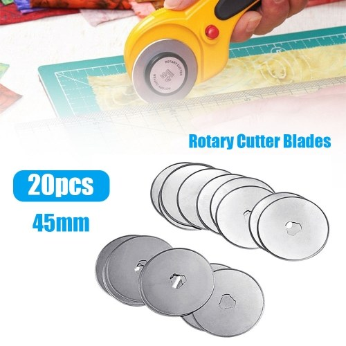 20Pcs 45mm Rotary Cutter Blades Quilters Sewing Patchwork Fabric Spare Blade