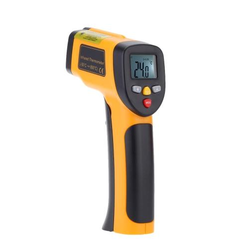Alta precisão sem contato IR Digital infravermelho termômetro temperatura testador pirômetro gama-55~650°C(-58~1202°F)