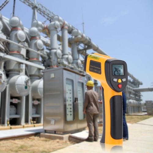 Высокоточный Бесконтактный IR Термометр Пирометр Цифровой Инфракрасный Тестер Температуры в Диапазоне -55~650°C(-58~1202°F)