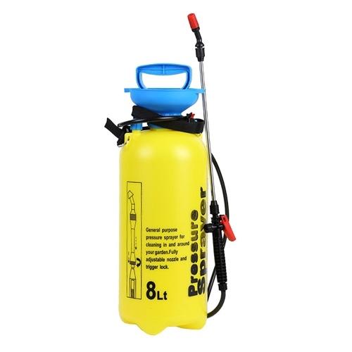 8L手動噴霧器散水噴霧散水缶噴霧器圧力逃がし弁付きロングワンドチューブ家庭用クリーニング用調節可能なショルダーストラップガーデニング農業用散水