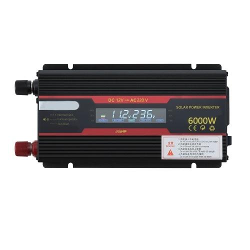 インテリジェントソーラーパワーカーインバーター修正LCDディスプレイ付き正弦波コンバーター