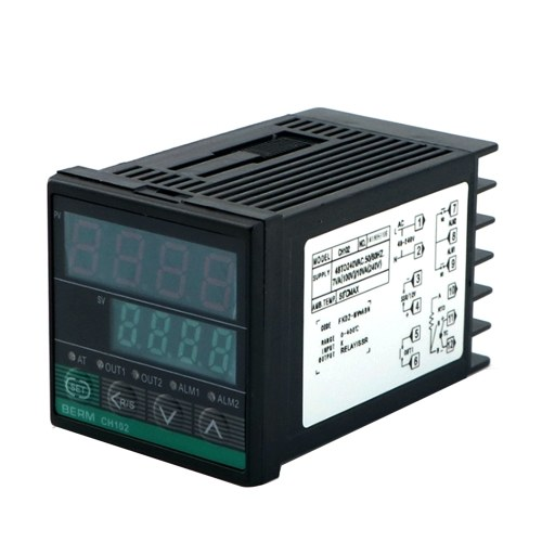 REX-CH102FK02-MV*ABN Intelligent Temperature Controller Digital Display 0-400℃ K Type Relay/SSR Output