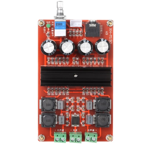 2*100W TPA3116 D2 Dual Channel Digital Audio Power Amplifier Board DC12V-24V for Arduino