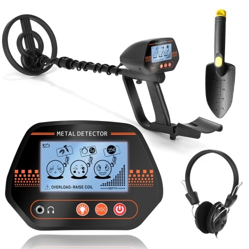 MD830 Portable Easy Installation Underground Metal Detector High Sensitivity Treasure Gold Metal Detecting Tool Finder with 3 Adjustable Modes Larger Back-lit LCD Display 3 Audio Tone and DISC Mode for Adults and Kids