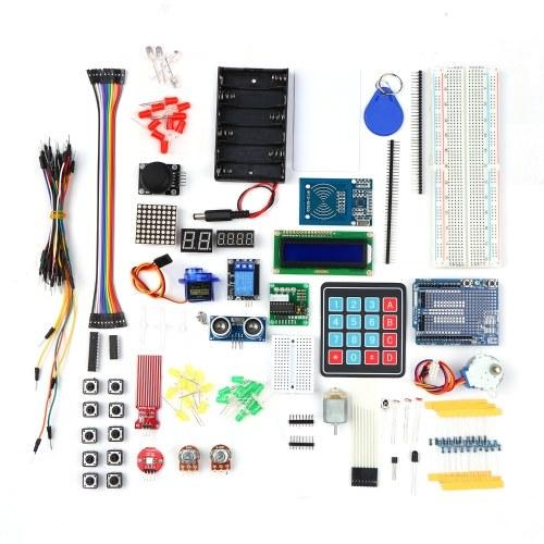 Стартовый комплект Электронный проект Комплект для обучения новичков с датчиками Шаговый двигатель Макетная перемычка Светодиодный компонент электроники