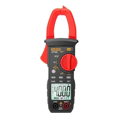 ANENG ST182 pro4000カウントデジタルAC電流クランプメーター400A自動レンジマルチメーター