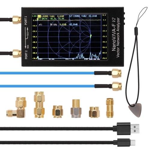NanoVNA-F V2 4.3 Inch IPS LCD Display Vector Network Analyzer S-A-A-2 Antenna Analyzer Short Wave HF VHF UHF