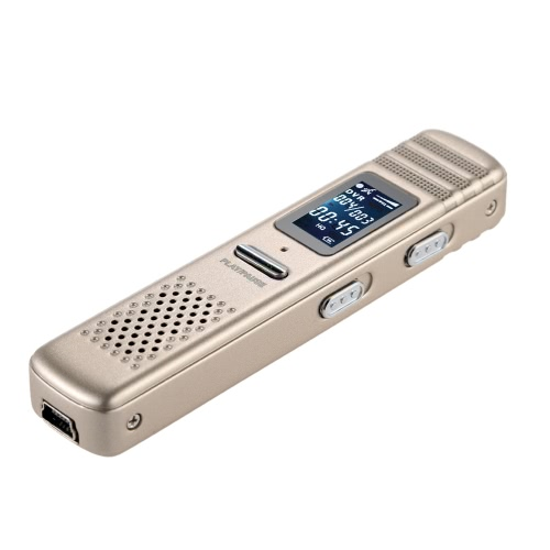 Versatile Mini 8GB Rechargeable Multifunctional Digital Voice Recorder MP3 Player Voice Activated Recording Device Dictaphone Compact Sound Recording Tool for Meetings Lectures Presentation Conversation