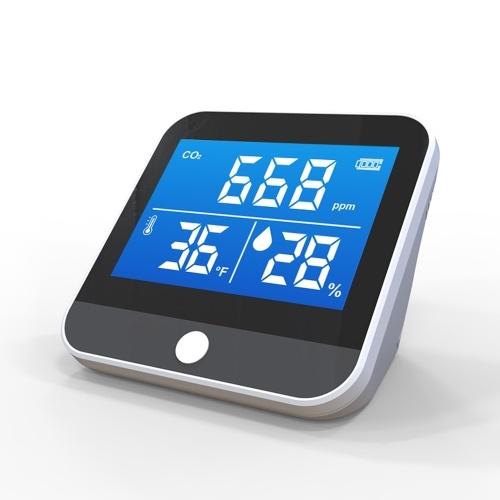 DM306CポータブルCO2温度湿度モニター多機能赤外線NDIR検出器デスクトップ家庭用屋内屋外高精度効率的な検出ツール大気質分析装置