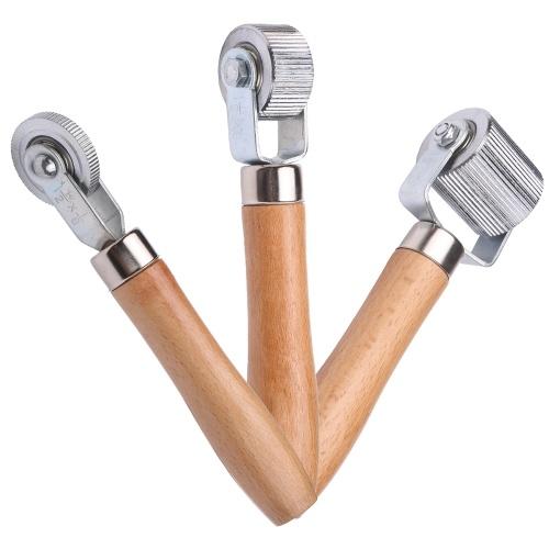 フラットを固定するための木製ハンドル6mm / 20mm / 40mmタイヤスティッチャーチューブ修理ツール付きタイヤパッチローラー