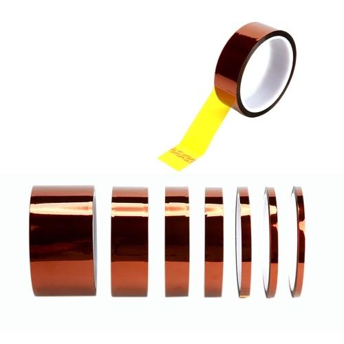 2PCS 100ft Polyimide Multiple Width Specification Heat Resistant Tape 8mm