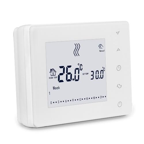 HY05BW多機能LCDタッチスクリーンインテリジェントサーモスタット壁掛けボイラーサーモスタット家庭用温度コントローラー