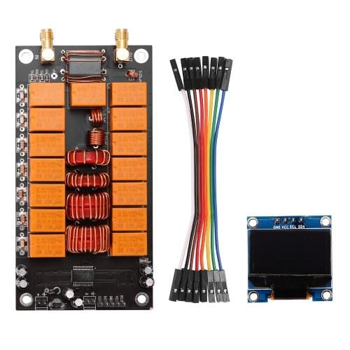 ATU-100 DIY Kits 1,8-50 MHz Automatischer Antennentuner + OLED Firmware Programmierter Verstärker Empfängerzubehör