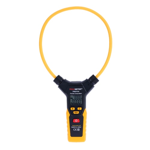 PEAKMETER PM2019A Handheld Digital LCD Flexible Clamp Meter Multimeter AC Current with Backlight Flashlight