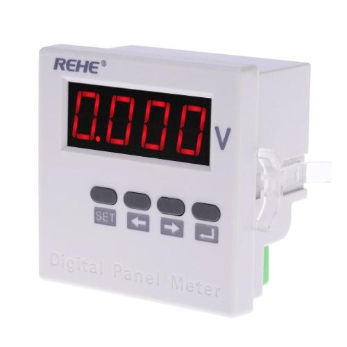 71*71mm Digital Single Phase AC Voltage Panel Meter Voltmeter Voltage Ratio Programmable AC500V AC220V