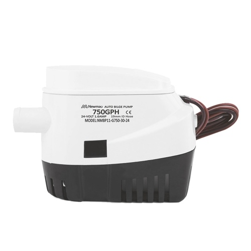 750 GPH Automatic Bilge Pump 24V DC Submersible Water Pump RV Boat Marine Pump with 3/4 Inches Outlet (19mm) for Removing Bilge Water