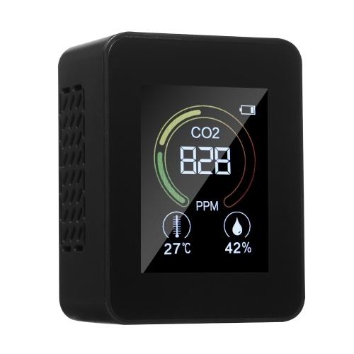 3 в 1 Интеллектуальный детектор качества воздуха Домашний офис Школа Использование Многофункциональный цифровой дисплей Монитор CO2 / температуры / влажности