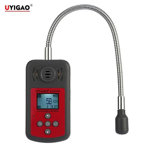 UYIGAO Brand New Handheld Portable Mini Automobile Combustible Détecteur de gaz Fuite de gaz Localisation Déterminer Tester avec écran LCD Sound and Light Alarm