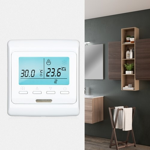 Programmable Smart Thermostat Buit-in Sensor with LCD Display Digital Temperature Controller (3A without WiFi)