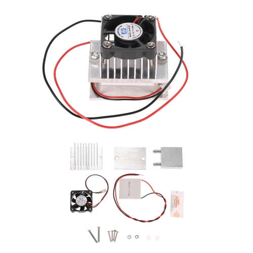 KKmoon DIY Kit Thermoelectric Peltier Cooler Refrigeration Cooling System Heat Sink Conduction Module + Fan + TEC1-12706