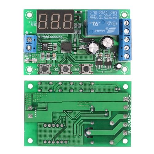Módulo de Controle de Detecção de 12V 0-10A Corrente DC Current Sensing que detecta o atraso Relé