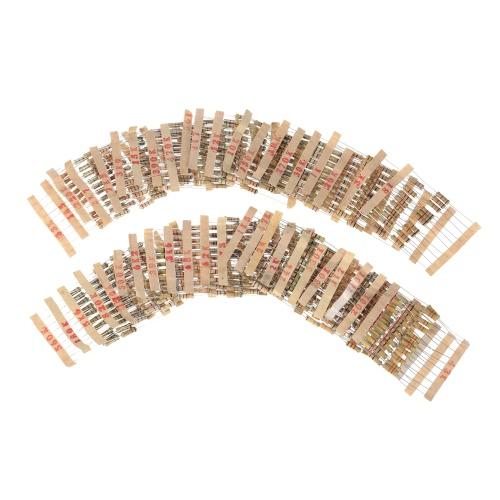 480pcs 1W 48 Valores 1K ohm 2m ohm Filme de Carbono resistores Variedade Kit Componentes eletrônicos