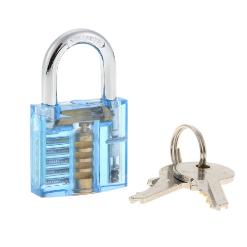 Professional Transparent Visible Locksmith Training Trainer Cutaway Brass Padlock Lock Picking Practice Set Kit