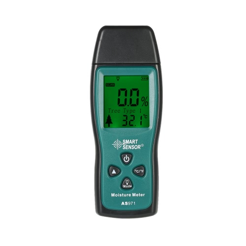SMART SENSOR Handheld Mini Wood Moisture Meter Digital LCD Lumber Damp Meter Detector Tester 2 Pin Probe Range 2%~70%
