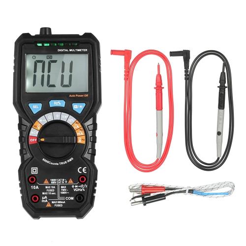 BSIDE 6000 Counts Auto Range True RMS Многофункциональный цифровой мультиметр DMM с детектором NCV DC Постоянное напряжение переменного тока Измерение тока Диод Емкостная емкость Частота тестеров линейной линии Температура hFE Измерение Непрерывность Тест HZ Подсветка ЖК-дисплей