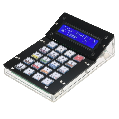 DIY Calculator Counter Kit com acrílico Case Display LCD Multi-purpose Electronic Calculator Counter Eletrônica Computing