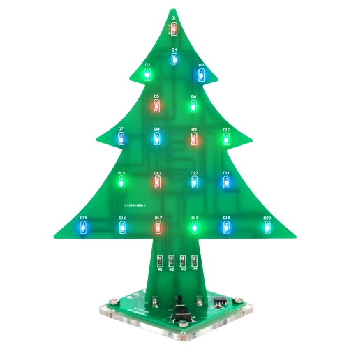 DIYカラフルな簡単にLEDライトアクリルクリスマスツリー電子学習キットモジュールを作る