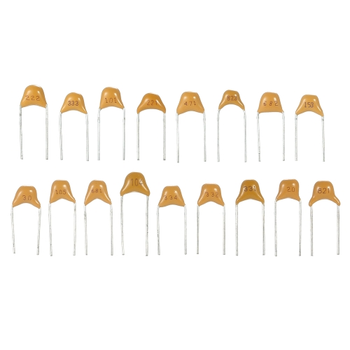 KKmoon 700pcs 35values*20pcs 8pF-2.2uF Multilayer Ceramic Capacitors Assorted Kit Assortment Set
