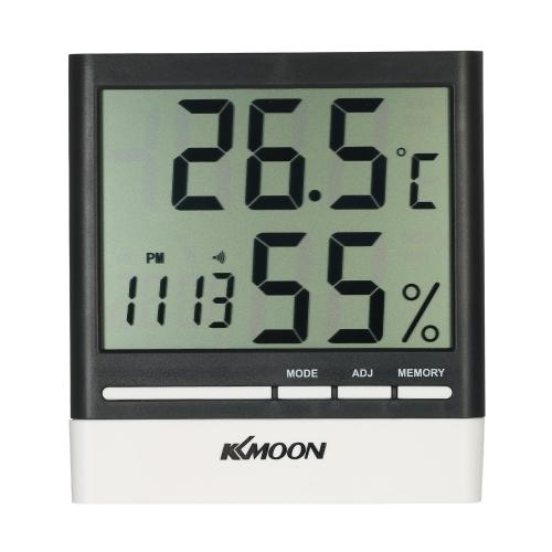 KKmoon LCD ℃ / ℉ Termómetro digital higrómetro Reloj despertador