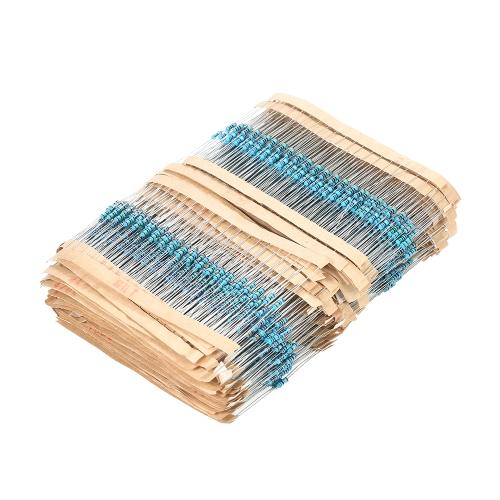 2600pcs 130 Valores 1 ohmio a 3M ohm 1 / 4W 1% Resistores de película metálica Surtido Kit Componentes electrónicos