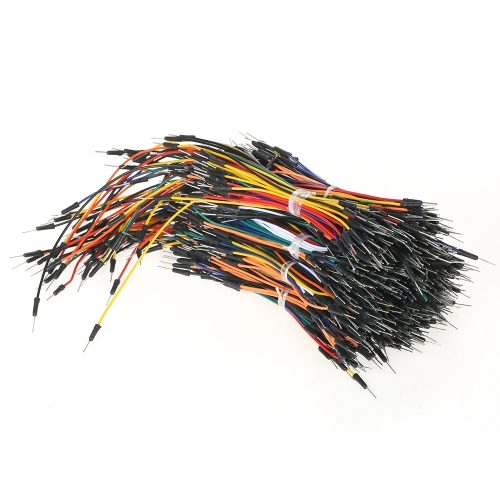 650pcs macho a macho sin soldadura Flexible Breadboard Jumper Cables Cables