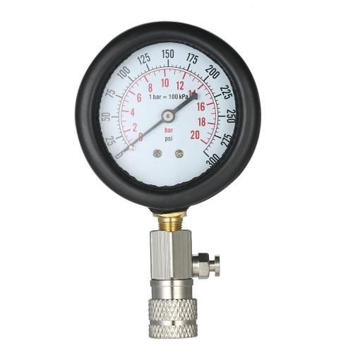 Gasoline Engine Compression Tester Auto Petrol Gas Engine Cylinder Automobile Pressure Gauge Tester Automotive Test Kit 0-300psi w