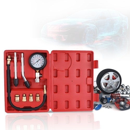 Gasoline Engine Compression Tester Auto Gasolina Gas Engine Cilindro Automobile Pressure Gauge Tester Automotive Test Kit 0-300psi com Case