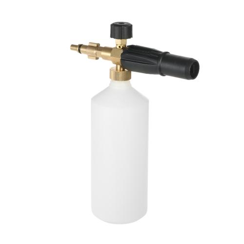 Foammer ajustable de la espuma de la lanza de la botella de la botella de 1L de la esponja del jabón del inyector de la espuma para la lavadora del coche de la presión de Lavor