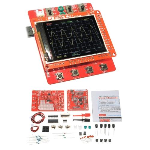 Цифровой осциллограф JYE Tech DSO138 Цифровой осциллограф DIY Kit Детали SMD Предварительно паяный электронный обучающий комплект 1MSa / s 0-200KHz