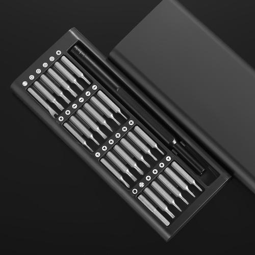 Cacciavite Set 24 in 1 Kit cacciaviti per cacciaviti magnetici di precisione con scatola portatile in alluminio per fotocamera digitale portatile per PC
