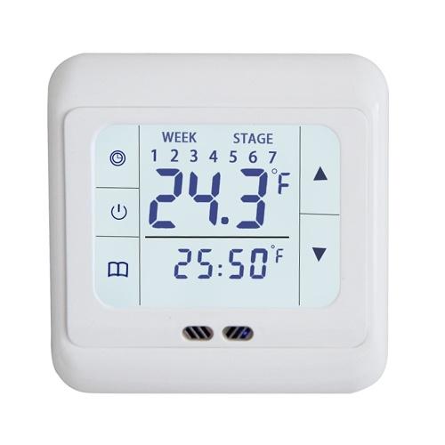 Pannello del termostato di riscaldamento elettrico touch screen Pannello di controllo intelligente della manopola dell'interruttore di controllo a doppia temperatura lyk-109