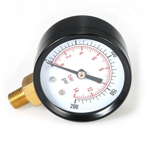 Image of 0 ~ 200psi 0 ~ 14bar Dual Skala Mechanisches Manometer