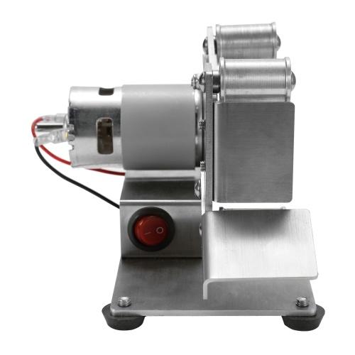 Многофункциональный шлифовальный станок Мини электрический ленточный шлифовальный станок DIY Шлифовальный станок для полировки Резак кромки точилка фото